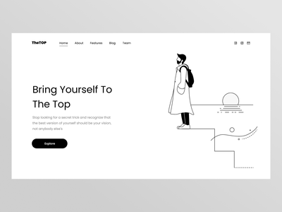 TheTop dailyui illustration ui layout challenge webdesign uidesign clean simple minimal