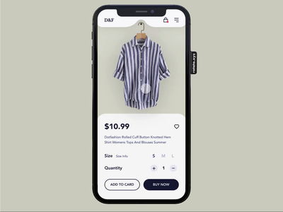 D&F ecommerce fashion clothes layout app interaction animation