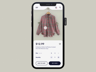 DF' layout fashion ecommerce interaction clothes app animation
