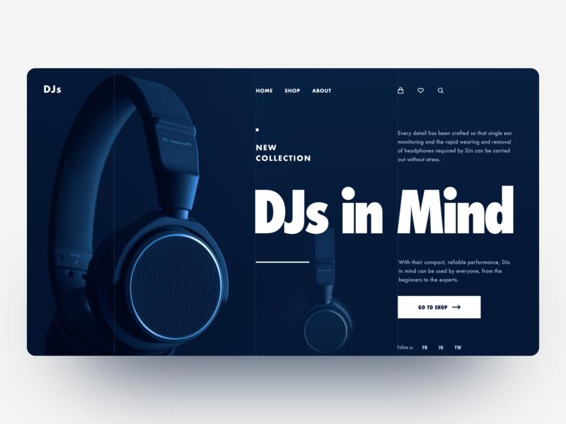 DJs uidesign webdesign ecommerce typogaphy dailyui
