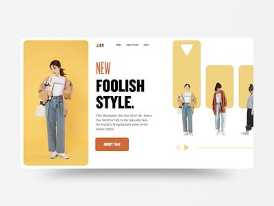 G9 website dailyui typography webdesign uidesign fashion minimal simple