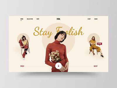 F69L dailyui typogaphy layout fashion uidesign web