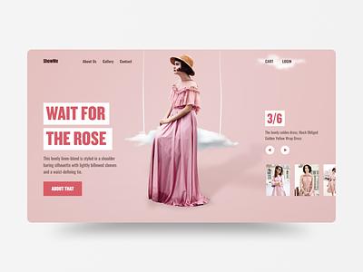 ShowMe v2 web ui webdesign layout uidesign fashion