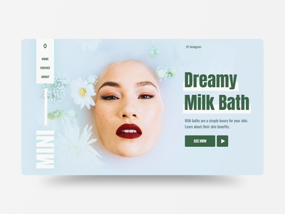 Milk Bath green women ecommerce bath milk website ui layout web uidesign