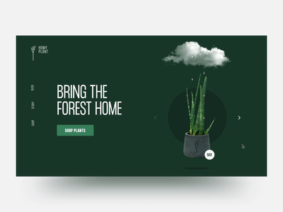 Homy Plant layout webdesign ecommerce home cloud clean animation plant minimal