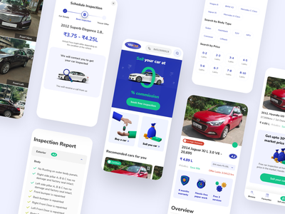 Car Marketplace Design blender3d blue car app marketplace car marketplace 3d icons blender design ios clean flat app ui