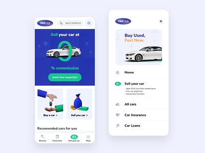 Car Marketplace Design marketplace car marketplace ios mobile apps mobile app car app blender3d 3d icons ui design product design uiux ui