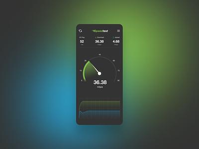 SpeedTest UI speed app dark ui ios clean mobile ui speedometer speedtest