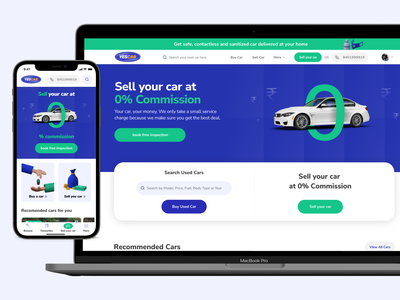 Marketplace design for Yescar marketplace web dashboard mobile ui direct selling pre owned car landing page home page marketplace design