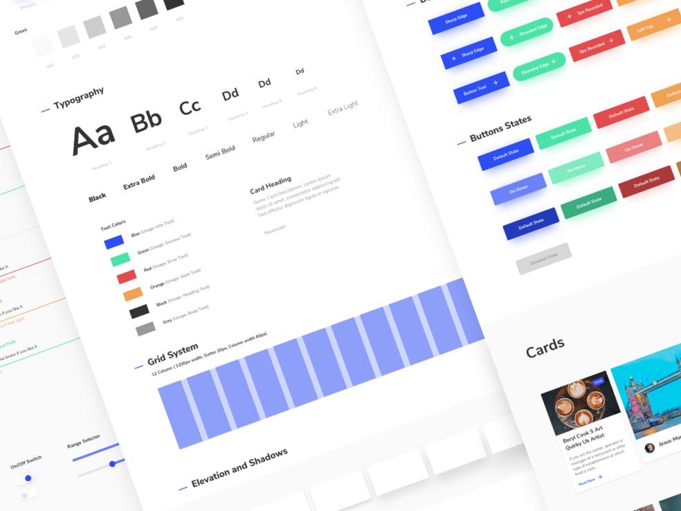 Radiance Design System for FREE! button product styleguide sketch ux ui atomic design design system design download