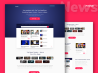 Newsly App Landing Page