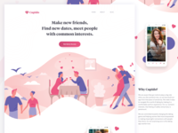 Dating App - Web Landing page