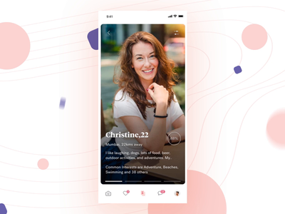 Dating App - Swiping Interaction