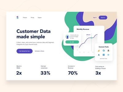 Landing page - Analytics Tool