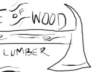 Pile of Wood sketch