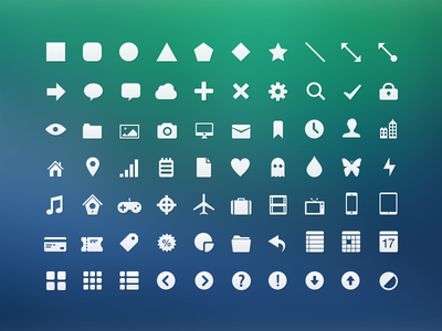 Basic Icons Pack icons pixelmator pxm pxs vector shapes freebie