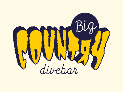 Big Country Logo lettering logotype
