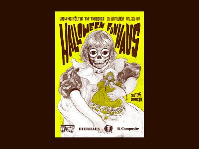 Big Country Halloween Poster halloween stockholm dalarna carl larsson dive bar poster