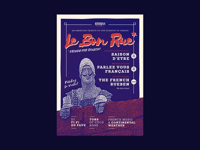 Katarina Le Bon Rue Poster silkscreen halftone brewing költur stockholm brewing katarina ölkafé beer poster