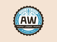 AW Lådan badge