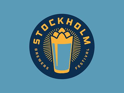 Stockholm Brewers Festival Logo stockholm brewers festival badge logo