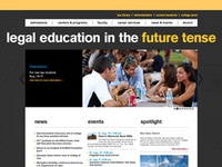 ASU College of Law website design