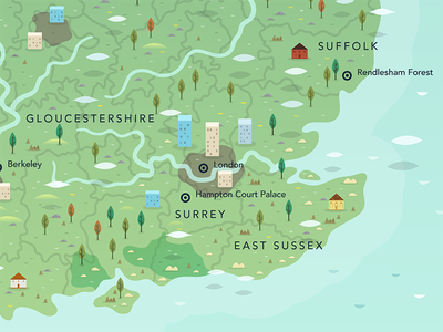 ITV1 Mystery Maps Piece map britain vector digital countries nation counties geography cartography mapping sea ocean