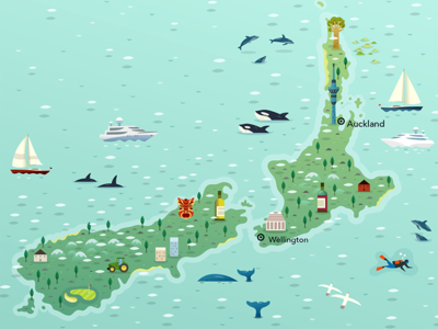 New Zealand Yachting Map