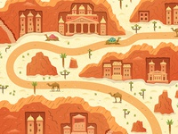 Rose City Jordan and Camels Vector Scene