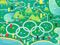 Rio 2016 Olympics Map