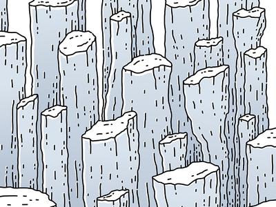 Rock Splinters design graphicdesign lineart illustrator illustration ink drawing geology vector splinters rock