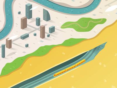 Urban geoblock dribbble