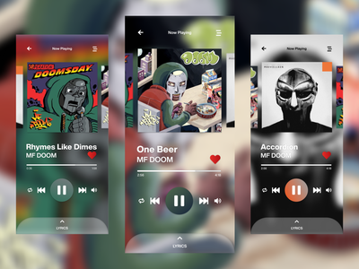 MF DOOM Music App figma vector design mfdoom app music ui ux branding