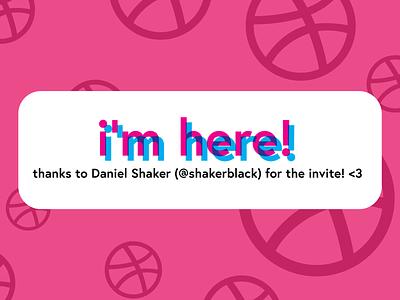 i'm here! thanks debute debut love overprinting overprint lettering type vector typography logo illustration design branding