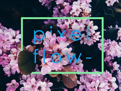 flowers type love overprint lettering vector typography logo design branding