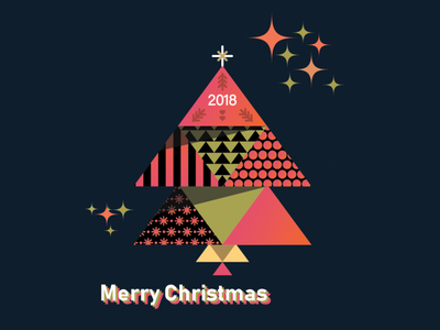 christmas 2018 ii 3d overprint vector type love logo lettering illustration typography design branding