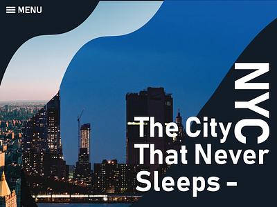 NYC website minimal 2018 trends flat debute debut app animation ux ui 3d love vector type logo lettering illustration typography design branding