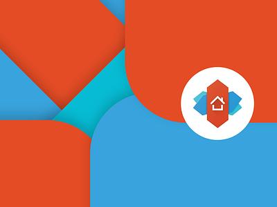 nova. material design android app icon uxui ux logo vector materialdesign branding material android nova nova launcher