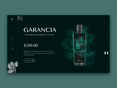 GARANCIA perfume elegant web design perfume web shopping minimalism clean art kit concise design ui