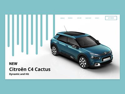 Citroen C4 Cactus 2018 citroen adobe web uiux ux ui adobexd photoshop illustrator 2d dailyui