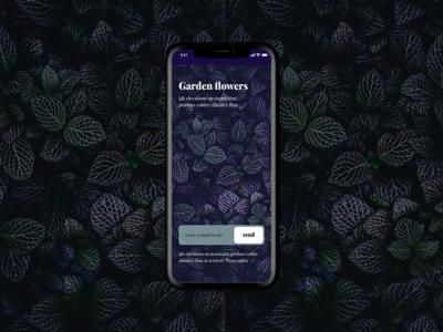 Garden newsletter screen