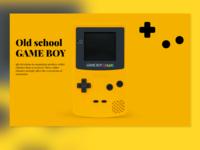 Game Boy Landing Page