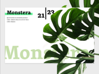 Daily Landing Page – Monstera