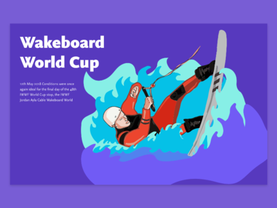 Wakeboard World Cup illustration