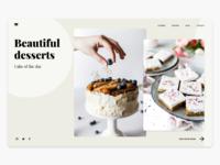 Beautiful desserts Landing Page