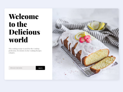 sign in page for website sing in cake design 2d uiux dailyui adobexd ui ux