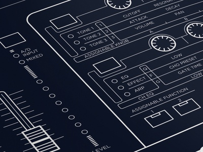Synth Detail Illustration