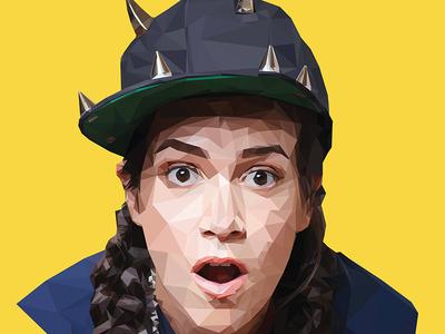 Abbi Jacobson Poly Portrait Detail