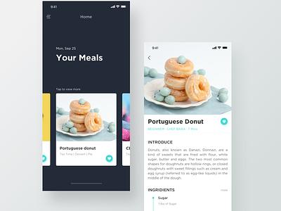Food App ux ui restaraunt white ios food app food app