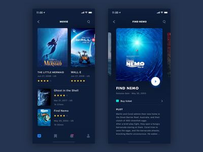Movie reviews APP - The movie list movie app ux ui